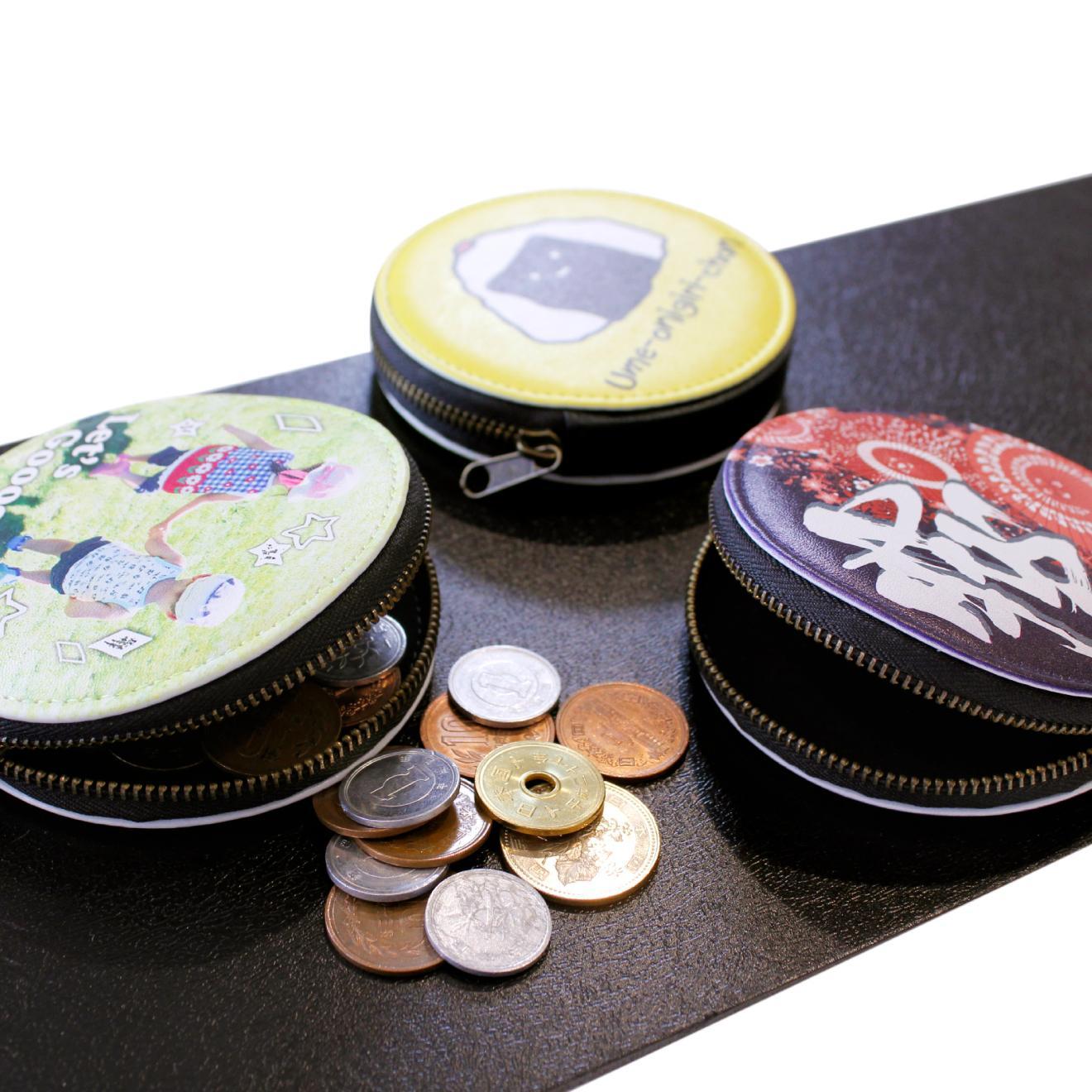 写真:PUレザーコインケース(片面印刷)